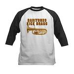 Baritones Kick Brass Kids Baseball Jersey