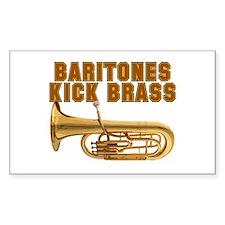 Baritones Kick Brass Rectangle Decal