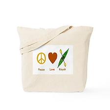 Peace,Luv,Kayak Tote Bag