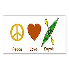 Peace,Luv,Kayak Decal