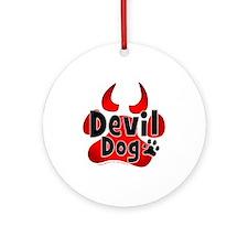 Devil Dog Ornament (Round)