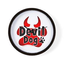 Devil Dog Wall Clock