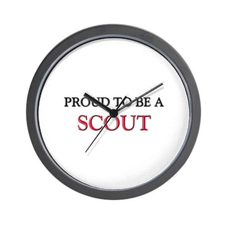 Proud to be a Scout Wall Clock