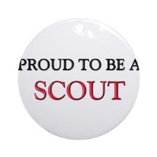 Proud to be a Scout Ornament (Round)