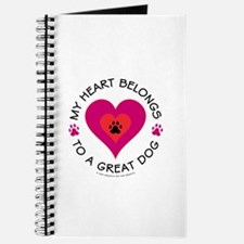 Heart Belongs Great Dog Journal