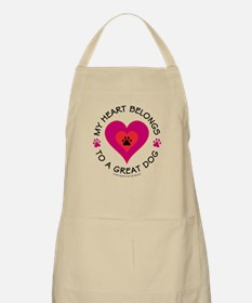 Heart Belongs Great Dog BBQ Apron