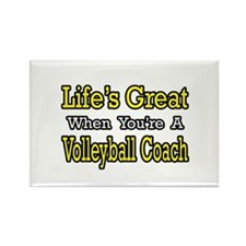"""Great...Volleyball Coach"" Rectangle Magnet"