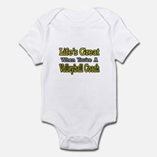 """Great...Volleyball Coach"" Infant Bodysuit"