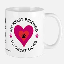 My Heart Belongs to Great Dogs Mug