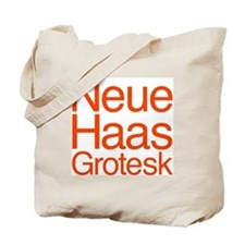 Neue Haas Grotesk Tote Bag