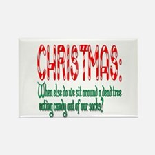 Christmas funny Rectangle Magnet