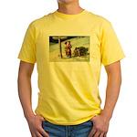 Santa Finding His Way Yellow T-Shirt