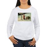 Santa Finding His Way Women's Long Sleeve T-Shirt