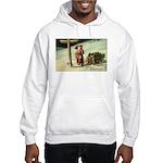 Santa Finding His Way Hooded Sweatshirt