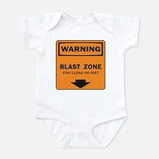 Warning Blast Infant Bodysuit