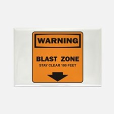 Warning Blast Rectangle Magnet
