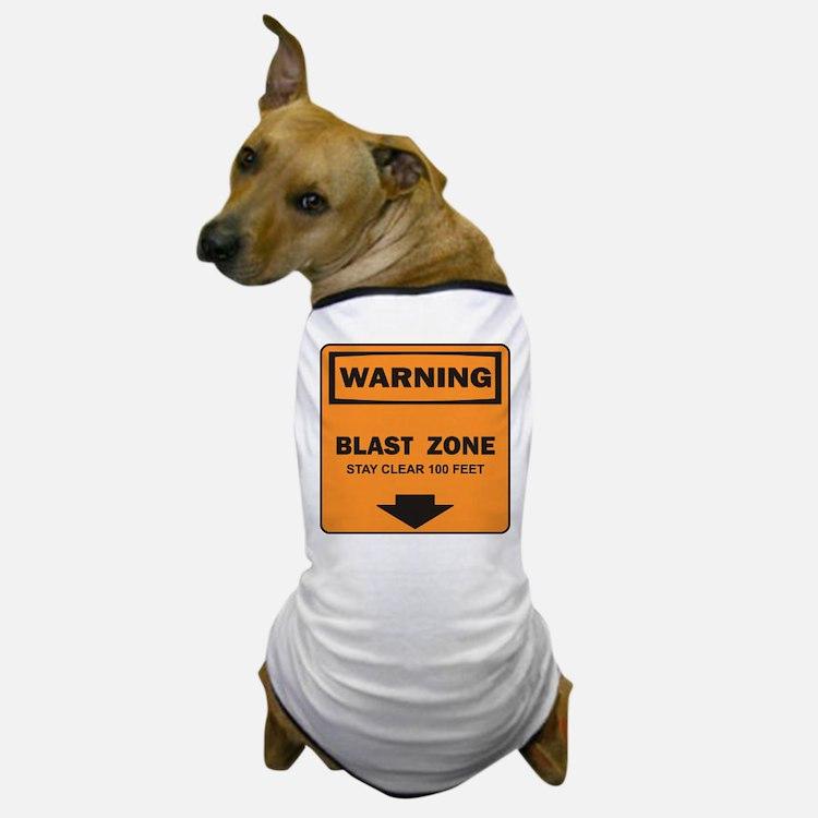 Warning Blast Dog T-Shirt