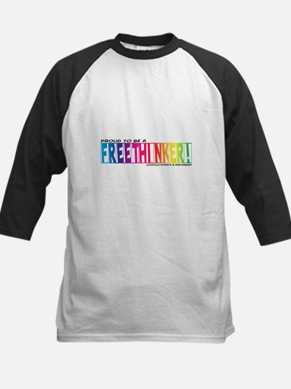 Proud to be a Freethinker! Kids Baseball Jersey