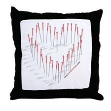 """Acupuncture """"Heart"""" Throw Pillow"""