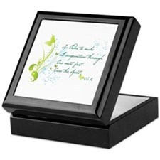 """Cure The Spirit"" Quote Keepsake Box"