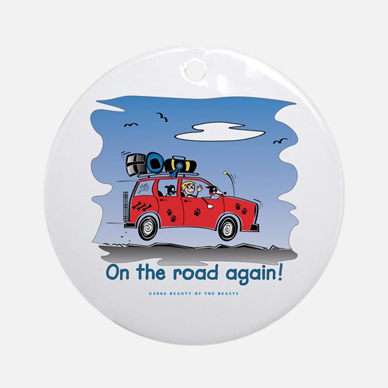 On the Road Again - Bright Sky Ornament (Round)