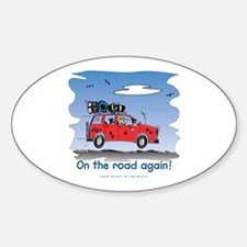 On the Road Again - Bright Sky Oval Decal