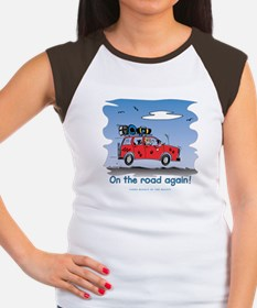 On the Road Again - Bright Sky Women's Cap Sleeve