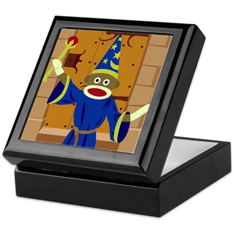 Sock Monkey Wizard Keepsake Box