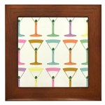Pop Art Martini Framed Tile