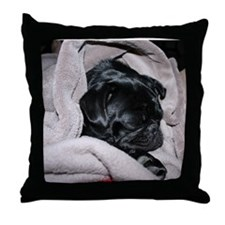 Cute Pug or pugs Throw Pillow