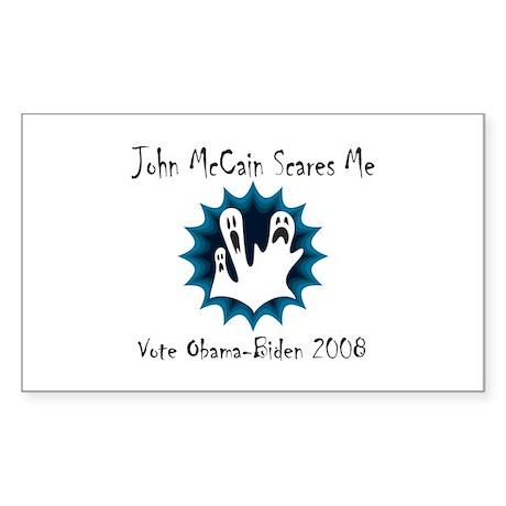 John McCain Scares Me Rectangle Sticker