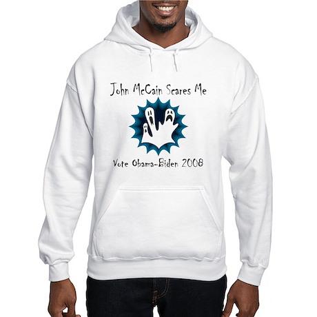 John McCain Scares Me Hooded Sweatshirt