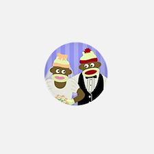 Sock Monkey Wedding Mini Button