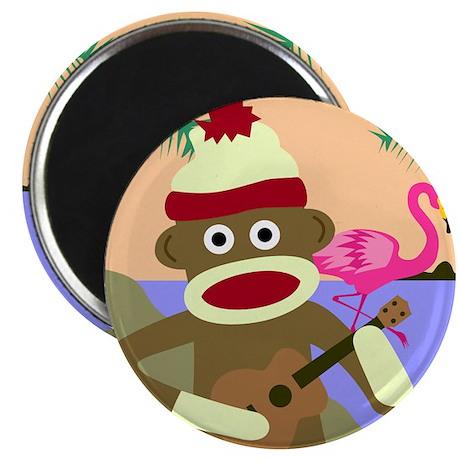 Sock Monkey Ukulele Magnet