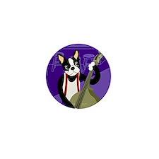 Boston Terrier Jazz Bass Mini Button