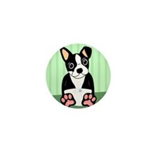 Boston Terrier Puppy Mini Button