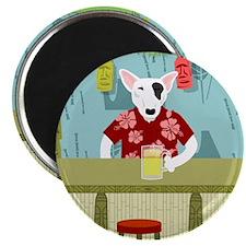 English Bull Terrier Tiki Bar Magnet