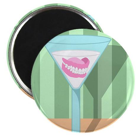 False Teeth Martini Magnet