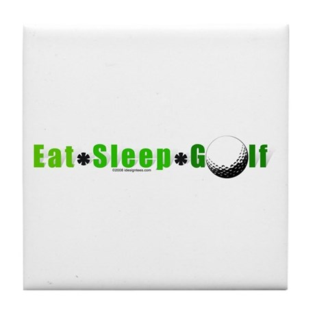 Eat*Sleep*Golf Tile Coaster