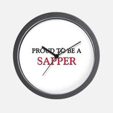 Proud to be a Sapper Wall Clock