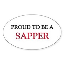 Proud to be a Sapper Oval Decal