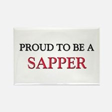 Proud to be a Sapper Rectangle Magnet