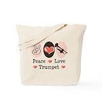 Peace Love Trumpet Tote Bag
