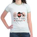 Peace Love Trumpet Jr. Ringer T-Shirt