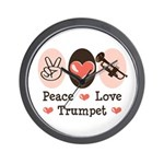 Peace Love Trumpet Wall Clock