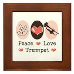 Peace Love Trumpet Framed Tile