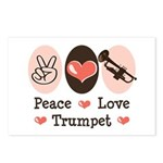 Peace Love Trumpet Postcards (Package of 8)