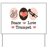 Peace Love Trumpet Yard Sign