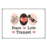 Peace Love Trumpet Banner