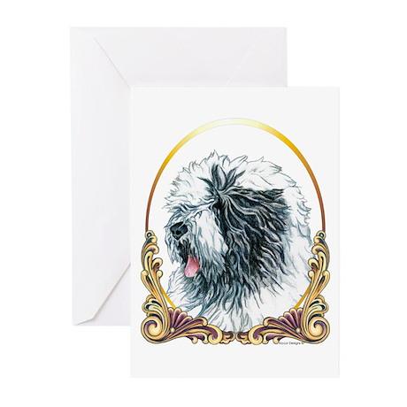 Old English Sheepdog Christmas Greeting Cards (10)